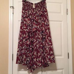 Anthropologie ruffle maxi skirt